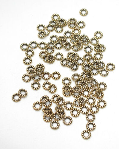 Beads Gold Beaded Ring Beads 10mm