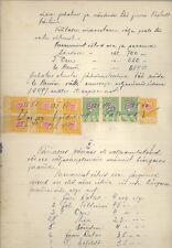 ESTONIA OLD DOCUMENT WITH REVENUE STAMPS 900