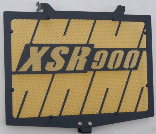 cache / Grille de radiateur noir satiné XSR 900 Kenny Roberts + grill. jaune