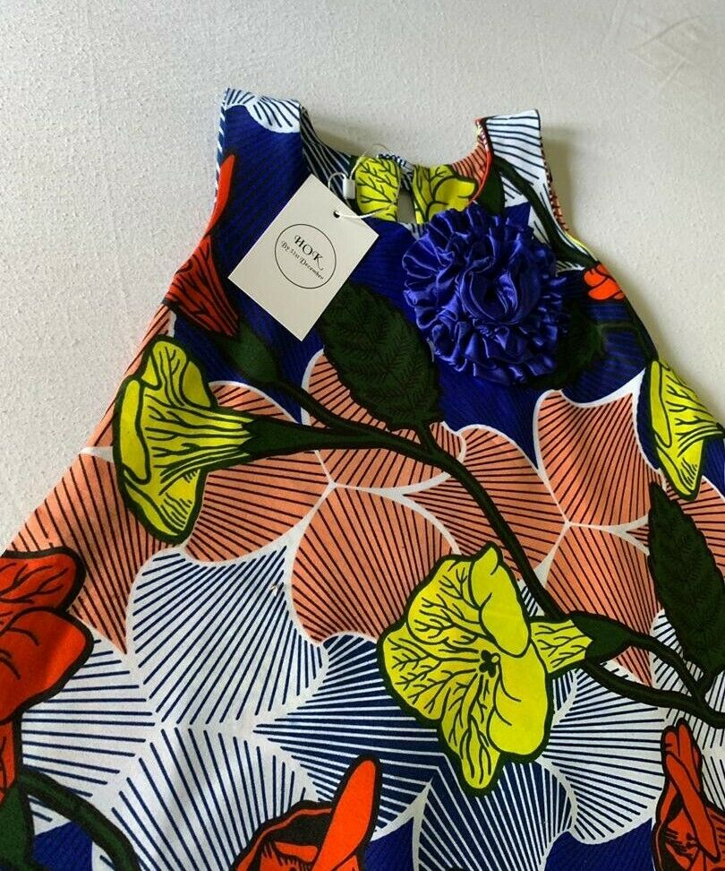 Girls Cute Ankara Dress, Skater Dress African traditional clothes for 2-3yrs old