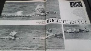 Rivista Brigitte Bardot Parigi Match N° 695 Agosto 1962 Be