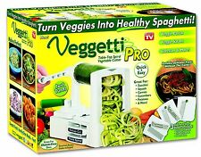 Veggetti Pro Table-Top Spiralizer Slicer, Cut Vegetables into Healthy Spaghetti