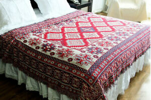 Vintage Bohemian Blanket Cotton Reversible Sofa Couch Throw Cover for Home Decor