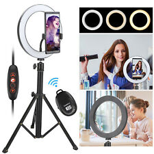 """8"""" LED Selfie Ring Light w/Tripod Stand&Cell Phone Holder For Makeup Live Stream"""