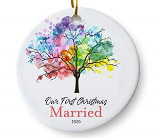 Our First Christmas Married 2020 Ornament, Newlywed ...