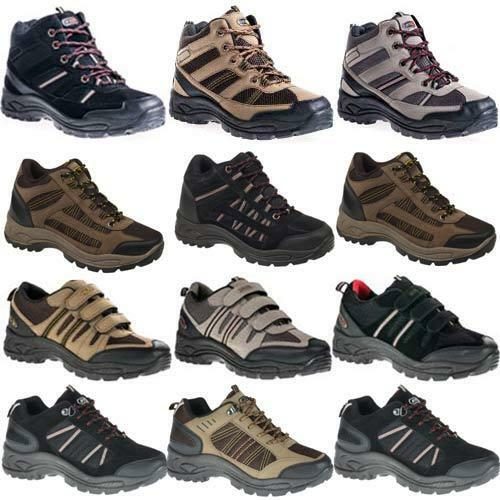 MENS HIKING BOOTS WALKING BLACK ANKLE HI TOPS TRAIL BLACK WALKING TREKKING TRAINERS SHOES SIZE 8f4d98