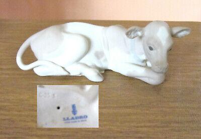 retired lladro 4680 children nativity cow figurine