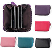 Fashion Mini Leather Credit ID Business Card Holder Pocket Wallet