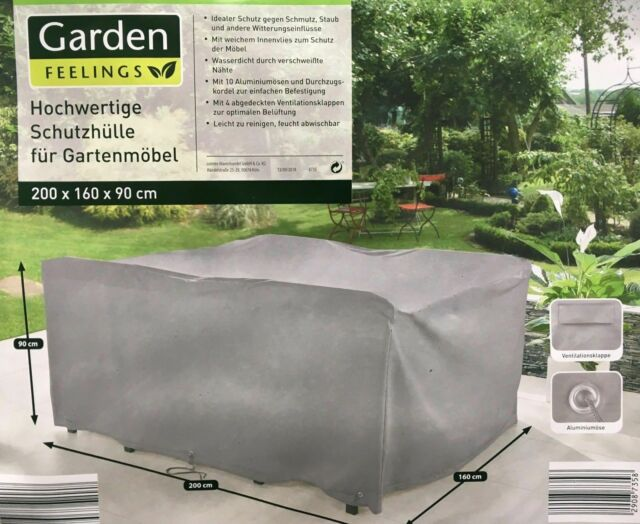 Garden Feelings Hochwertige Schutzhulle Fur Gartenmobel 200 X 160 X 90 Cm