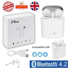 New I7S TWS Wireless Ear Pods Pair 2in1 White Bluetooth Earphones Headphones Mic