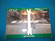 2012 Honda CRF50F Motorcycle Factory User Guide Owner Owner's Manual with TOOL