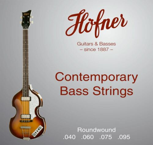 Hofner HCT1133RB Roundwound Strings for Violin Bass Club Bass.