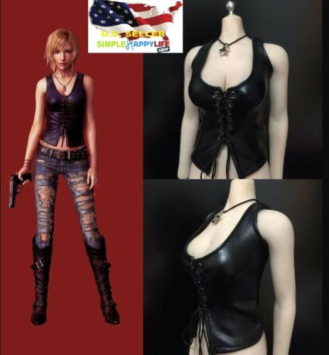"""1//6 leather vest cowgirl horse riding for phicen hot toys 12/"""" female figure❶USA❶"""