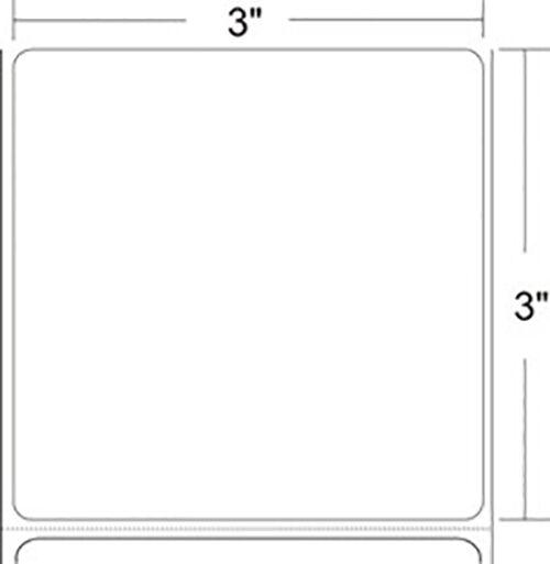 GENUINE ZEBRA Z-PERFORM 3 x 3 DT LABEL 6 ROLLS CASE 10010030 NEW