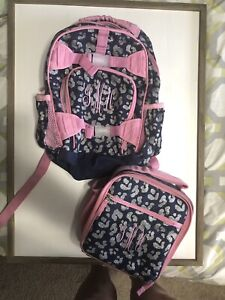 Pottery Barn Kids Girls Backpack And Lunch Bag Navy Blue