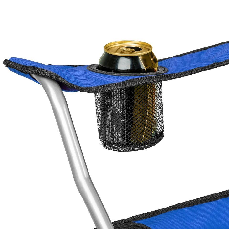 2 Campingstole enkelt blå