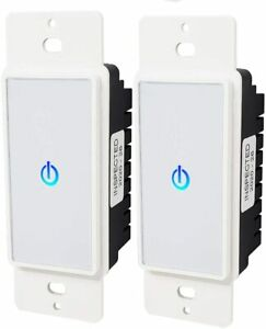 2 Smart Touch Light Switch Lighting Control Wall Panel Electrical Outlet Switch Ebay