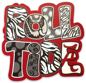 Alabama-Crimson-Tide-034-Roll-Tide-034-Type-Magnet