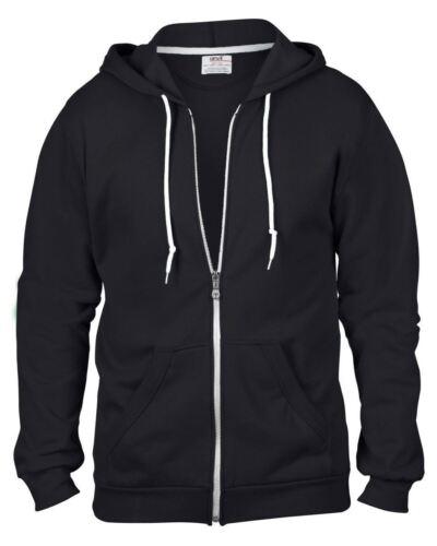 Mens/'s zipped hoodie sizes s to 3xl Anvil Adult Full Zip Hooded Sweatshirt