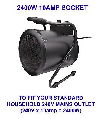 Portable Workshop Fan Heater 2400W or Cooler Shed Garage ...