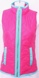Vineyard-Vines-Pink-Full-Zip-Nylon-Pockets-Quilted-Jacket-Vest-Women-039-s-XS