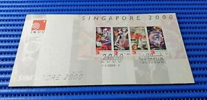 2000 Singapore First Day Cover New Millennium Miniatue Sheet Stamp Issue