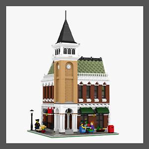 LEGO-Modular-Corner-Pub-amp-Loft-INSTRUCTIONS-ONLY