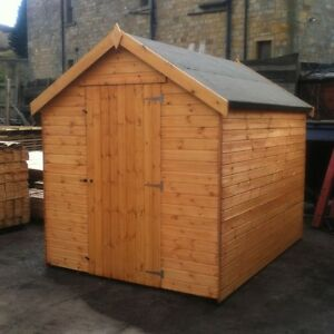Details About 6x6 Wooden Garden Shed Fully Tg Apex Hut 12mm Treated Store No Windows