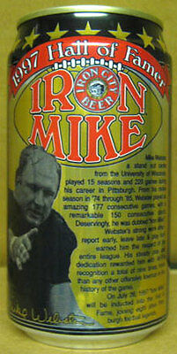 IRON CITY BEER 12oz Can MIKE WEBSTER, Pittsburgh Steelers, PENNSYLVANIA, grade 1
