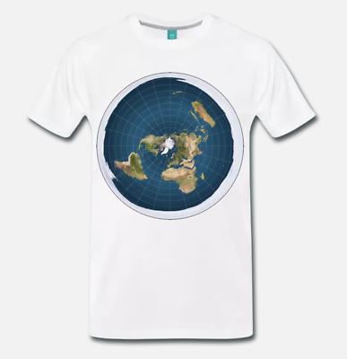 Contemplativo T-shirt Maglia Terra Piatta Flat Earth Teoria Cospirazione Terrapiattisti - 1 Sconti Prezzo
