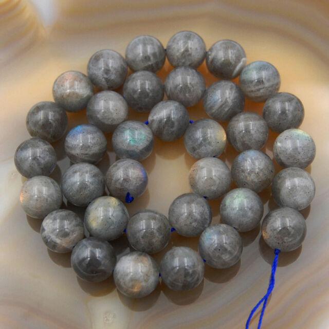 "Natural Labradorite Round Beads 15.5"" 6,8,10,12mm Pick Size"