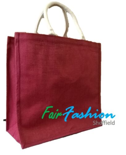 Natural Eco Friendly Bags Jute Hessian Colourful Shopping Bag Extra Large