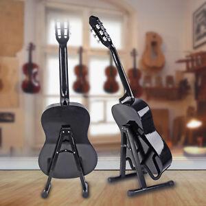 portable adjustable a frame electric guitar floor stand holder ukulele violin 784887179706 ebay. Black Bedroom Furniture Sets. Home Design Ideas