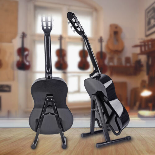 New Professional Musician/'s Gear A-Frame Acoustic Guitar Stand Black