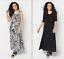 Attitudes-by-Renee-Petite-Set-2-Printed-amp-Solid-Maxi-Dresses-Animal-Black-PL thumbnail 1