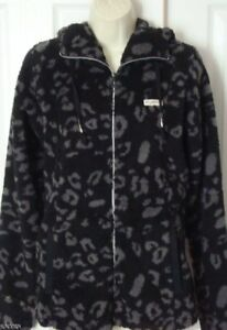NWT-WOMENS-BILLABONG-OFF-BLACK-POLAR-FLEECE-ZIP-HOODIE-JACKET-L-LARGE-NEW