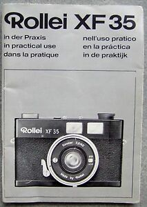 ROLLEI XF 35 INSTRUCTION MANUAL - <span itemprop='availableAtOrFrom'>Kenilworth, United Kingdom</span> - ROLLEI XF 35 INSTRUCTION MANUAL - Kenilworth, United Kingdom