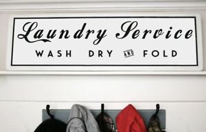 Large Rustic Laundry Room Wall Decor Wood Sign Fixer Upper Vintage Farmhouse Ebay