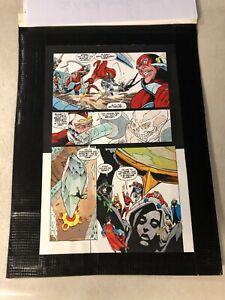 JLA #21 ART Color Guide 1998 SUPERMAN FLASH ADAM STRANGE LANTERN WONDER WOMAN