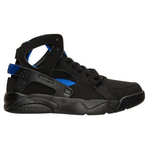 Nike Flight Huarache Grade School Basketball Shoes 705281 001 New Black Blue 6.5