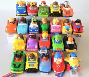 Fisher-Price-Little-People-Wheelies-Vehicles-Kids-Boys-Girls-Toy-Cars-20-Design