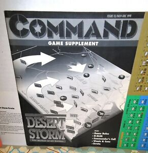 BOARD-WARGAME-Command-13-Desert-Storm-Mother-of-all-Battles-op-GAME-ONLY-1991