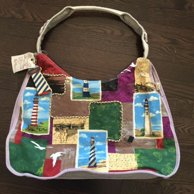 Paul Brent Tote Bag Purse Beach Lighthouse Collage Design