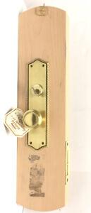 VINTAGE BALDWIN DOOR HARDWARE MOUNTED SALESMAN SAMPLE DISPLAY LOCK SET