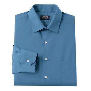 New-Arrow-Men-Classic-Fit-Poplin-Spread-Collar-Dress-Shirt-Danish-Blue-MSRP-45