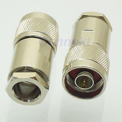 10pcs N male plug clamp RG8 RG165 RG213 LMR400 RF connector