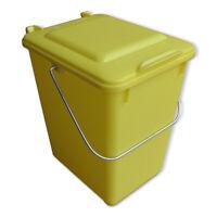 Neue Futtertonne Plastikeimer Tierfutter Box Behälter Mit Deckel 10 Liter Gelb.