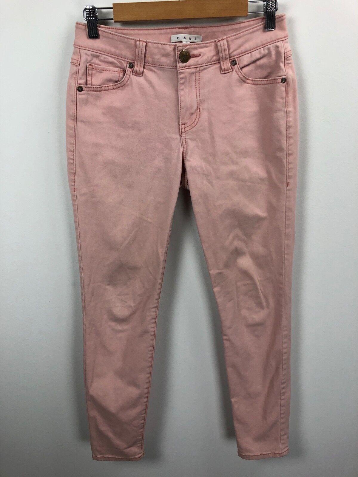 CAbi Pink Skinny Jeans Size 4