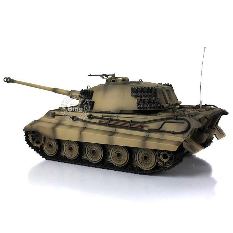 HengLong 1 16 German King Tiger Henschel RC RTR Tank Upgraded Metal Yellow 3888A