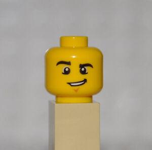 Minifig LEGO Head Female Glasses Star Shaped w// Lavender Lips Lopsided Smile